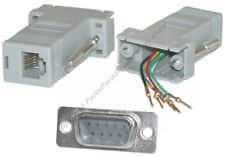 Lot10 DB9pin Male~RJ12/RJ11 Jack Modular Adapter 6P6C 6wire Aux/Phone/Telephone