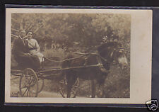 Horse and Buggy with man & woman RPPC, ca. 1910, unused