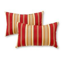 Outdoor Throw Pillow Accent Chair Sofa Decorative Stripe Lumbar Rectangle 2 Pack