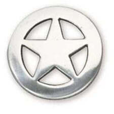 """Ranger Star Concho 1"""" (2.5 cm) Silver Plate Tandy Leather 7992-05"""