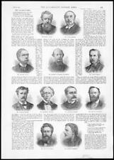 1892 ANTIQUE PRINT Portraits Rudyard Kipling Arnold Morris Austin Dobson (135)
