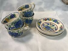Mason's Vintage Regency Ironstone Set Of 4 Cups And Saucers