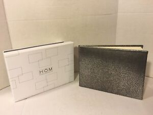 Home Essence Silver & Black Guest Signature Book for Any Occasion
