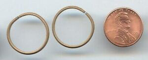 24 VINTAGE OPEN BRASS LOOP ROUND 20mm. LARGE JUMP RING FINDINGS 634a
