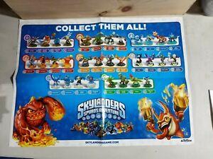 Skylanders Spyro's Adventure Character Poster Checklist Brand New From 2011