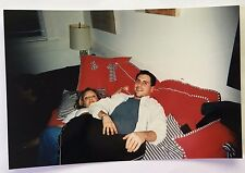 Vintage 90s PHOTO Grown Adult Man Smothering Girl On Couch