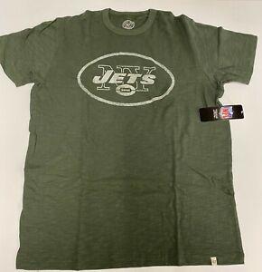 $38 New York Jets 47 Brand Heather Green Tee T shirt NY City Logo nfl MEDIUM M
