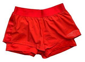 ADIDAS by STELLA McCARTNEY orange running/ sports/ tennis shorts, Large/ UK 16