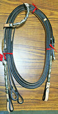 NEW SHOWMAN WESTERN SHOW BRIDLE LIGHT OIL ONE EAR SILVER BEADS HORSE TACK NR
