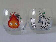 Studio Ghibli Tumbler Glasses with Soot Sprites, Calcifer, Kodama and Totoro