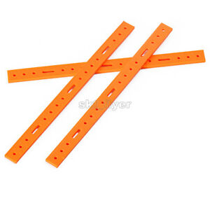2pcs Plastic Connect Strip 204*3mm Frame DIY Robotic Car Model Toy Hobby Gifts