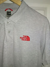 Mens THE NORTH FACE polo t shirt. Grey. Size S
