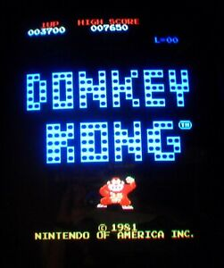 DONKEY KONG - Nintendo Arcade - GENUINE (4) BOARD LOGIC PCB SET - WORKING 100%