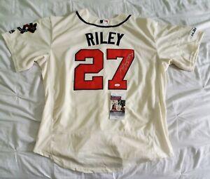 New Atlanta Braves AUSTIN RILEY Signed Auto Majestic Baseball Jersey JSA COA XL