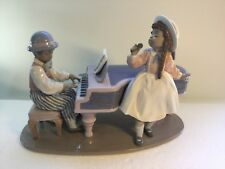 Lladro Figurine 5930 Jazz Duo, Mint, Retired, Band, Girl, Boy, Piano (B)