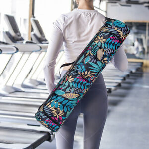 Printed Yoga Mat Bag Pilates Fitness Sports Exercise Pad Carry Backpack (5)