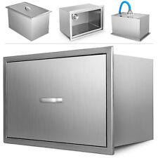 92 qt Outdoor/Indoor Drop-in Ice Chest Cooler 304 Patio Beer Bin Box W/Pipe