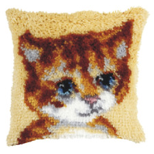 Orchidea Latch Hook Cushion Kit - Small - Cat - Needlecraft Kits