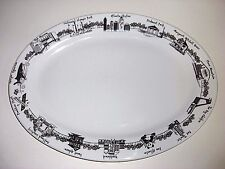 "NEW Tuxton The Dish Atlanta Collection 13-3/4"" Oval Platter Plate 2006 Georgia"