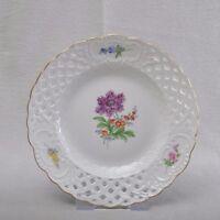 Meissen Blume 2, Durchbruchteller / Teller / Wandteller, 1.Wahl, 18cm