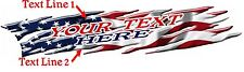 USA FLAG Boat Car Truck Trailer Graphics Decals Vinyl Stickers Wrap 2- 50""