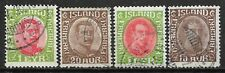 1920-1932 ICELAND Set of 4 USED STAMPS (Michel # 83,101,156,161) CV €6.20
