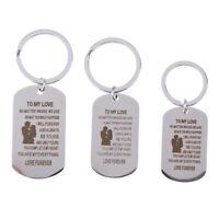 Cadeau inspirant de porte-clés en acier inoxydable pour le porte-clés meilleuTR