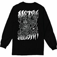 Metal Mulisha Men's Battle Axe Long Sleeve T Shirt Black Tee T-Shirts Clothing A