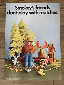 1970 Smokey The Bear Friends Poster Your State Forest Service USDA 71-CFFP-2b