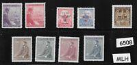 MLH Stamp set / German  Occupation / Third Reich / Adolph Hitler sets / WWII
