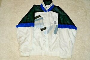 Sergio Tacchini Vintage Track Suit Color Block Jacket Blue Black Italy M 38-40