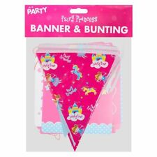 2 Pack Fairy Princess Birthday Banner and Bunting Set 1 Banner 1 Bunting 2.5m