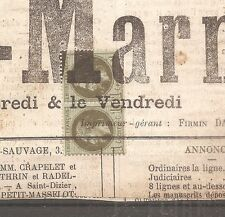 TIMBRE FRANCE FRANKREICH 1872 PAIRE N°25 OBLITERE USED SUR FRAGMENT JOURNAL