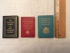 Set of 3 Miniature Books by Achille St. Onge - Kennedy, Johnson, Churchill