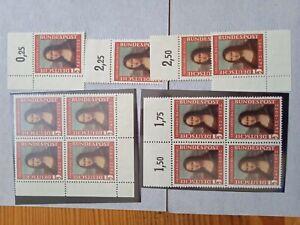 Michel Nr. 148 Mona Lisa 2 ** Viererblöcke + 4 Oberränder Eckränder Unterrand