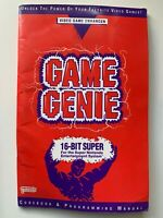 Game Genie Super Nintendo Code Book Only Booklet Manual VTG SNES