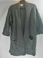 LC Lauren Conrad Womens Size Small Gray Knit Cold Shoulder Long Sleeve Top