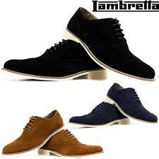 Para Hombre Cuero Smart Oficina Boda Zapatos Gamuza Formal Casual Partido zapato bajo de cuero zapatos
