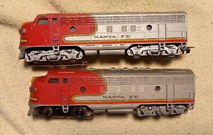 Märklin 3060 + 4060 Diesellokomotive F 7 SANTA FE # 108