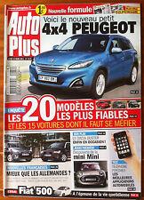 AUTO PLUS du 14/03/2011; 4x4 Peugeot/ 20 modèles les plus fiables/ Dacia Duster