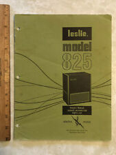 vintage 1970 Leslie ProLine 825 original manual