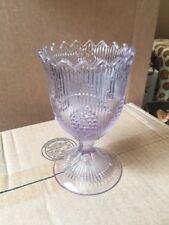 1860's EAPG Clear Flint Glass Bellflower Pattern Spooner Spoon Holder Scalloped