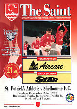1993/94 St Patrick's Athletic v Shelbourne, League, PERFECT CONDITION