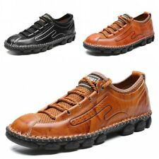 Men Leisure Faux Leather Shoes Breathable Flats Driving Moccasins Loafers Soft L