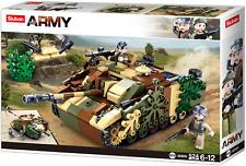 Sluban Char Allemand avec camouflage + soldat allié avec bazooka 3 figurines