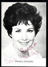 Monika Dahlberg Autogrammkarte Original Signiert ## BC 13300