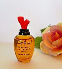 NOS C'est La Vie EDP Mini 4 ml Christian Lacroix New Vtg Perfume miniature