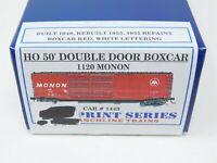 HO Branchline Blueprint Series 1120 MON Monon 50' Double Door Box Car #1443 Kit