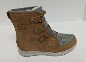 Sorel Explorer Joan Waterproof Boots, Brown/Grey, Women's 7 M