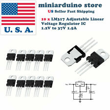 10pcs x LM317T LM317 Adjustable Linear Voltage Regulator IC 1.2V to 37V 1.5A